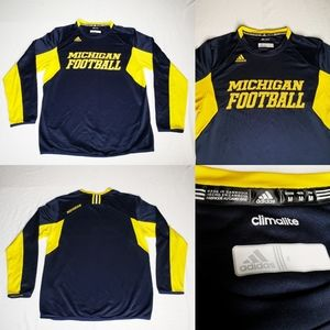 Michigan Wolverines NCAA Football Adidas Crewneck